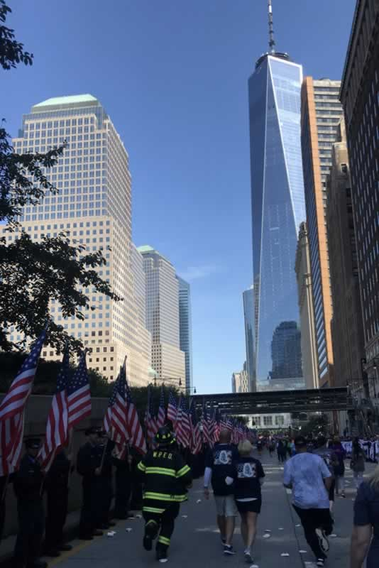 Mindy Cleaveland runs in the Tunnel to Towers 5K