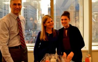 The Boston office, along with friends and clients, assembled 100 care packages for donation to a women's shelter