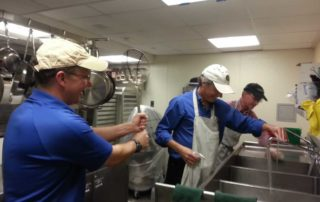 Boston office serves lunch at a homeless shelter