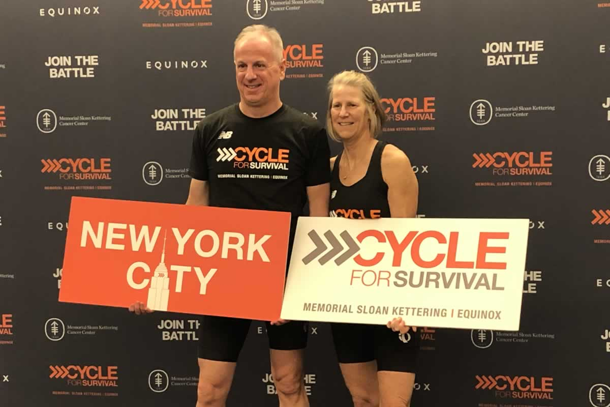 Chuck Roberson rides in Cycle for Survival