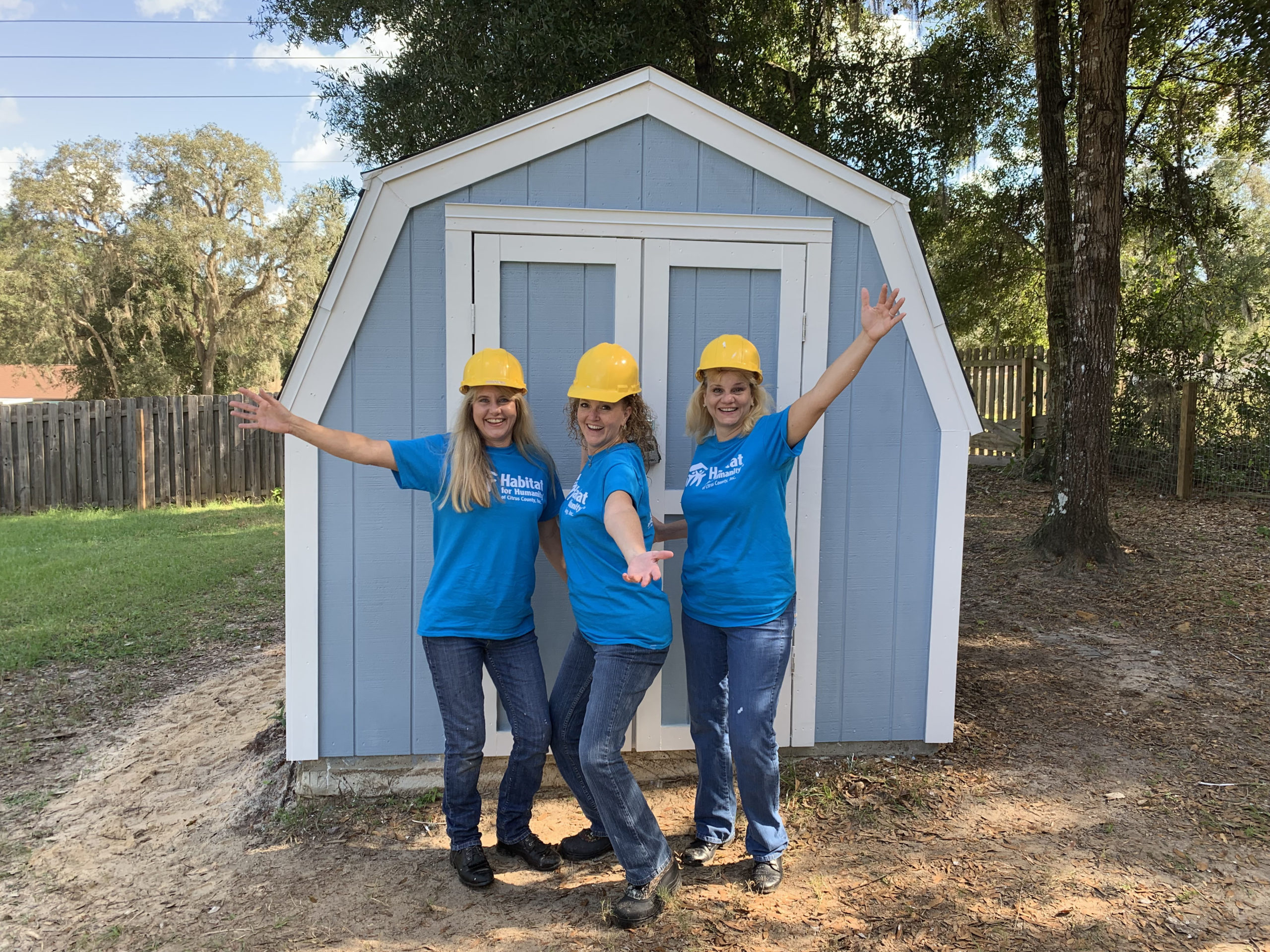 THe Florida office volunteers for Habitat for Humanity