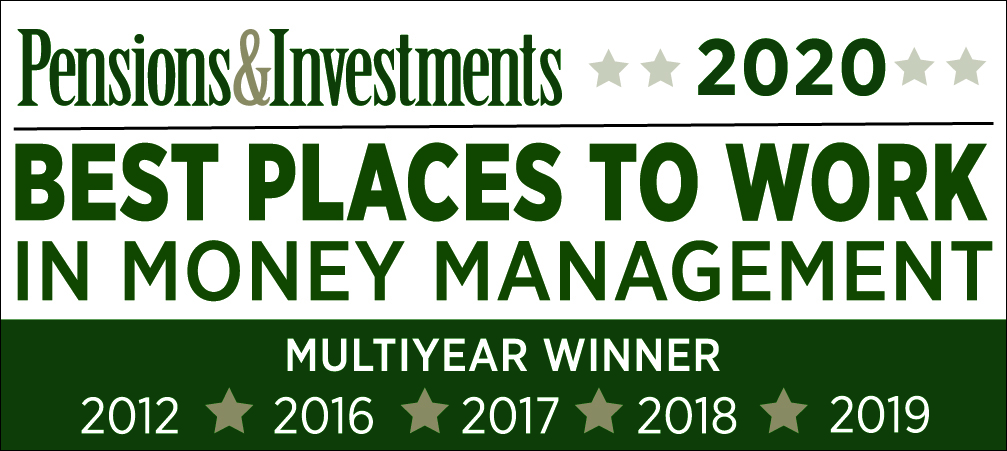 Pensions & Investments Best Places to Work in Money Management 2020