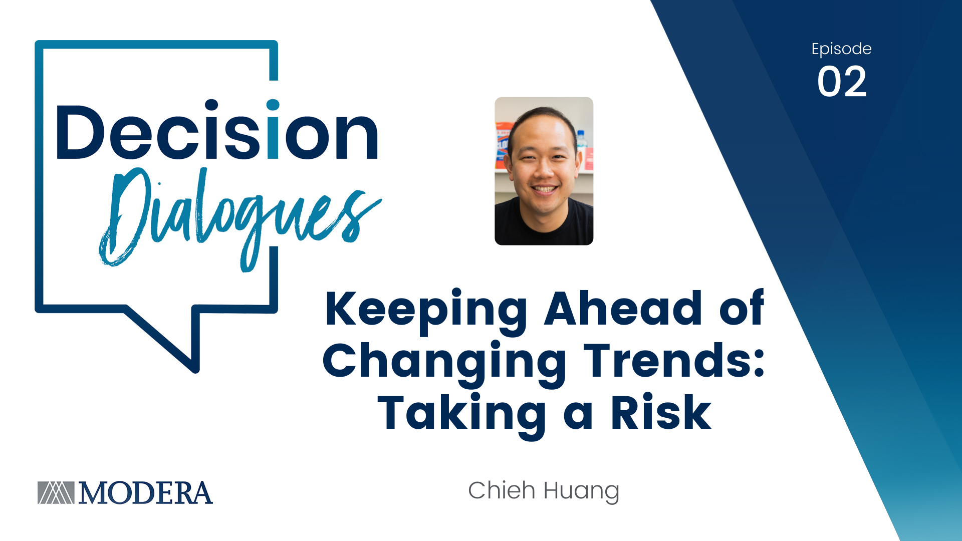 Decision Dialogues - Episode 02 - Keeping Ahead of Changing Times: Taking a Risk - Chieh Huang
