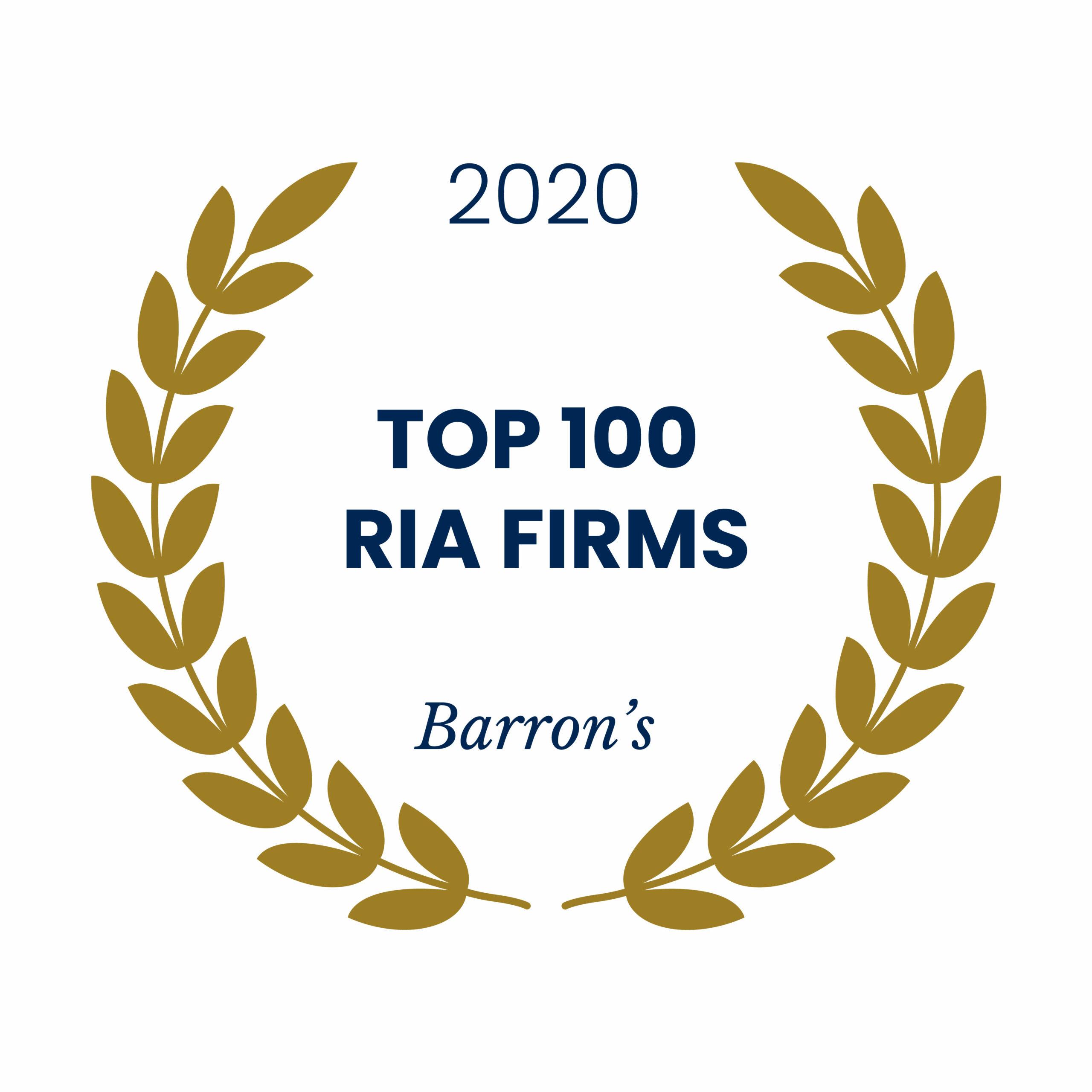 Award emblem for Barron's Top 100 RIA Firms