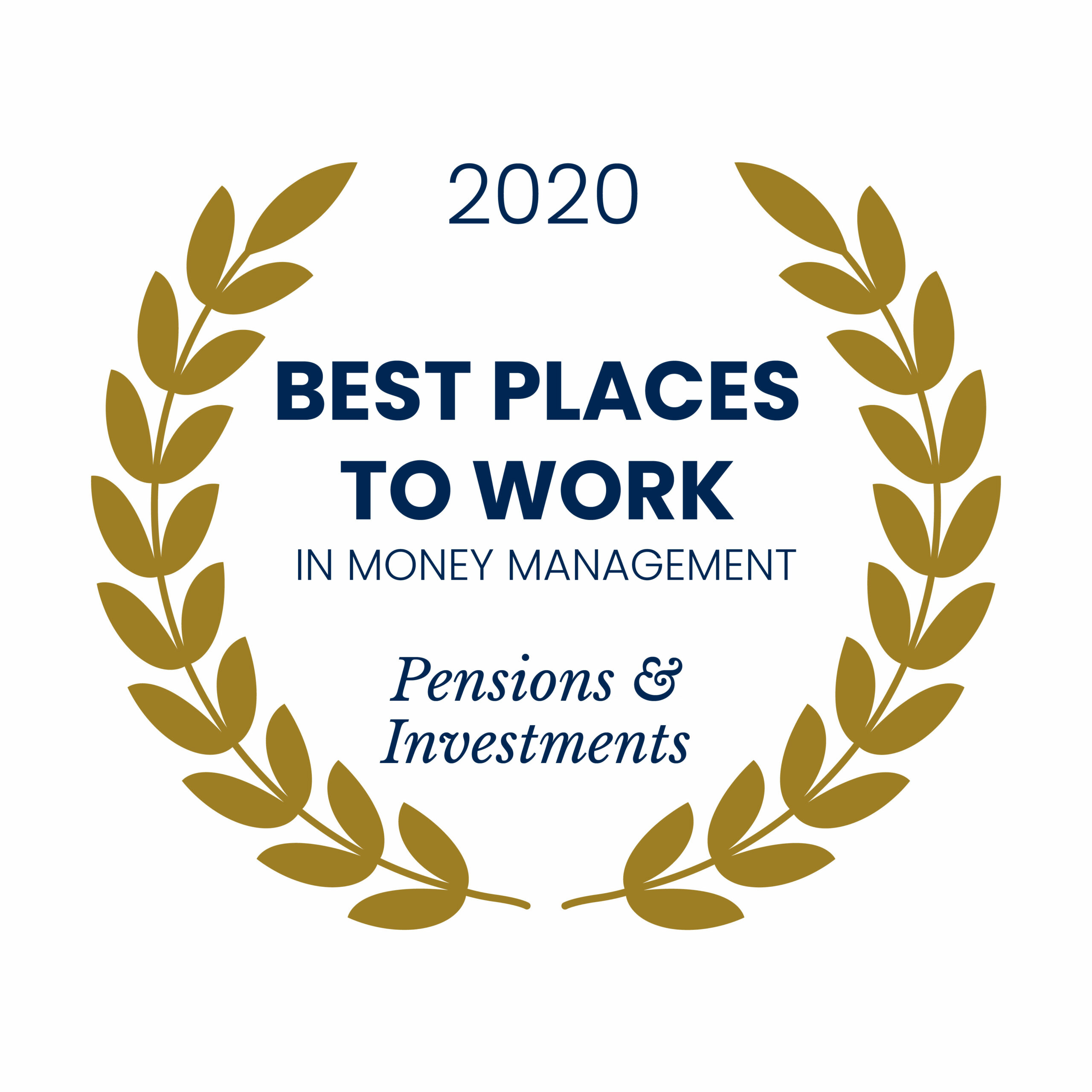 Award emblem for Pensions and Investments Best Places to Work in Money Management